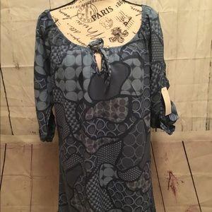 Italy Moda Women's Blue Dress